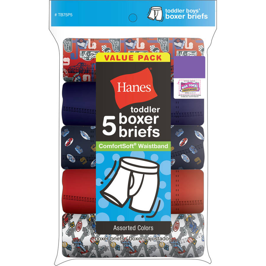 Toddler Boys ComfortSoft Waistband Boxer Briefs 5 Pack