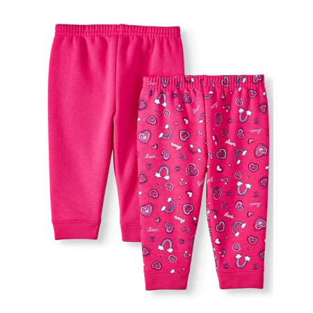 Garanimals Baby Girl Print & Solid Sweatpants, 2 (Best Place To Get Sweatpants)