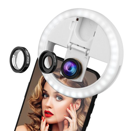 EEEKit Adjustable 36 LED Selfie Ring Fill Light Lamp Photo Shoot Flash Fill Light With Detachable Lens Kit for iPhone iPad Android Camera Photography Video Make up](Make Halloween Photo Shoot)
