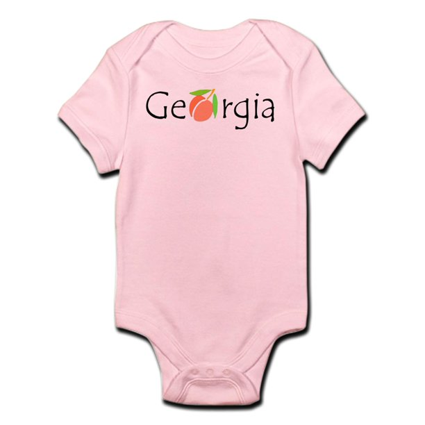 CafePress - Georgia Peach Infant Bodysuit - Baby Light Bodysuit