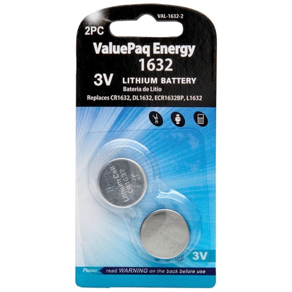 Dantona[r] Val-1632-2 Valuepaq Energy 1632 Lithium Coin Cell Batteries, 2 Pk