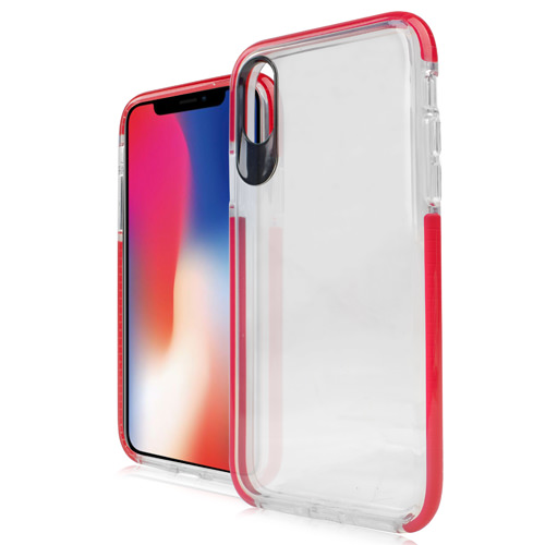 MUNDAZE Red Candy Acrylic Clear Case For Apple iPhone X Phone