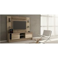 """Bowery Hill 74"""" Entertainment Center in Beige"""