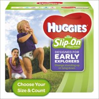 HUGGIES Little Movers Slip On Diaper Pants (Choose Size & Count)