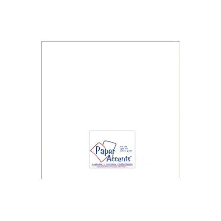 Paper Pearlized 12X12 80Lb White 5Pc - image 1 of 1
