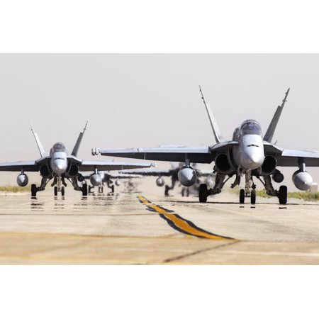 Spanish Air Force Ef 18M Hornets Taxiing On The Runway Poster Print By Daniele Facciolistocktrek Images