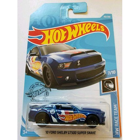 Hot Wheels 2019 Hw Race Team - '10 Ford Shelby GT500 Super Snake, Blue