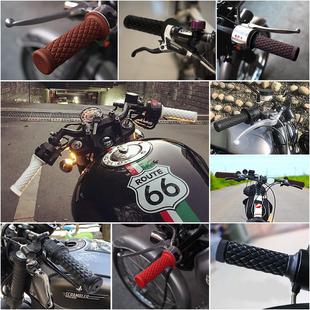 "JW/_ US/_ 22mm 7//8/"" Soft Rubber Anti-slip Handle Bar Hand-Grips For Bike Motorcy"