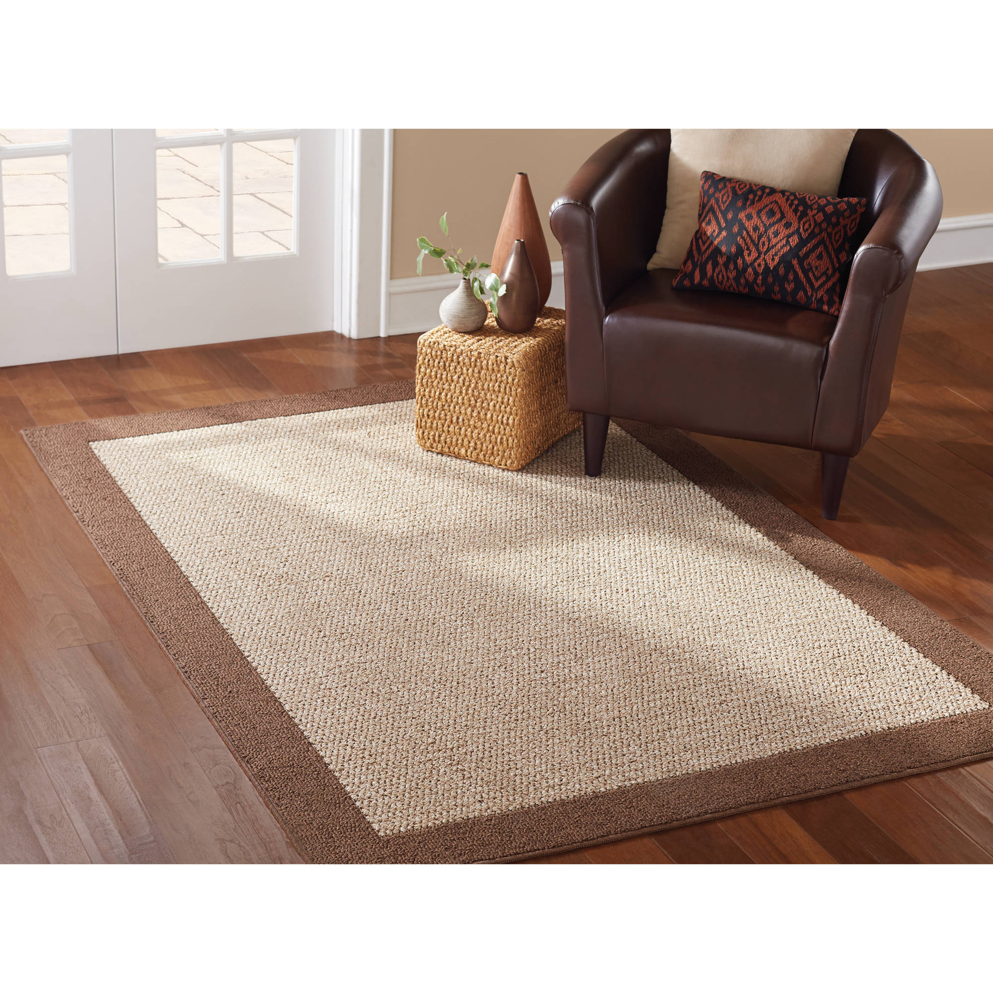 mainstays faux sisal 3 piece accent rug set multiple colors