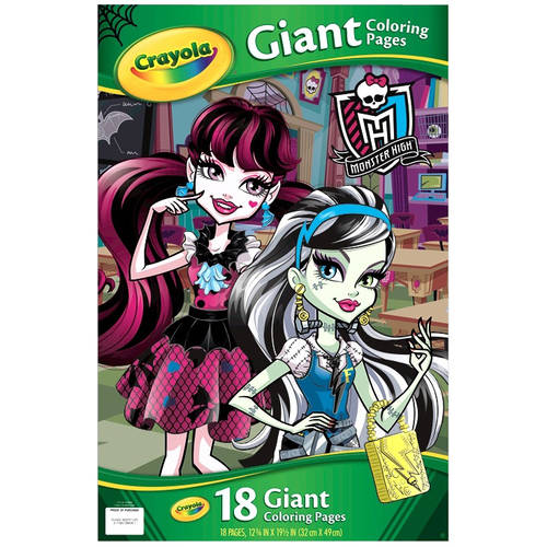 Crayola Monster High Giant Coloring Book, 18 Pages to Color