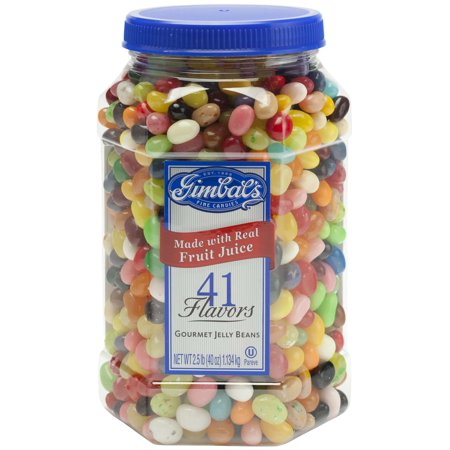 Gimbal's Gourmet Jelly Bean Jar, 40 oz. (Jelly Bean Poem)
