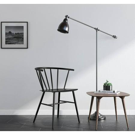 Novogratz Campbell Metal Cottage Chair, Multiple Colors Black Metal Finish Restaurant Chair