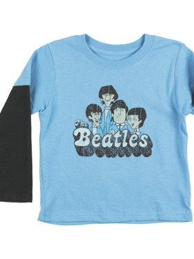 Toddlers The Beatles Layered LS T-Shirt Rock Band Blue