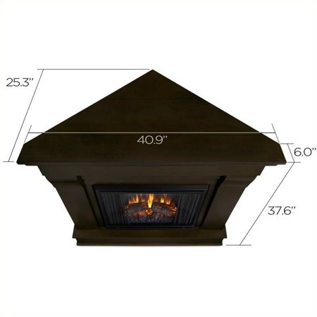 Awe Inspiring Real Flame Chateau Electric Corner Fireplace In Espresso Home Remodeling Inspirations Cosmcuboardxyz