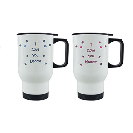 I Love you Daddy/Mommy Coffee Mugs with Gift Boxes Bundle - Expecting Daddy/Mommy, Father's Day/Mother's Day, World's Best Mommy/World's Best (Best Gift For Mother And Father)