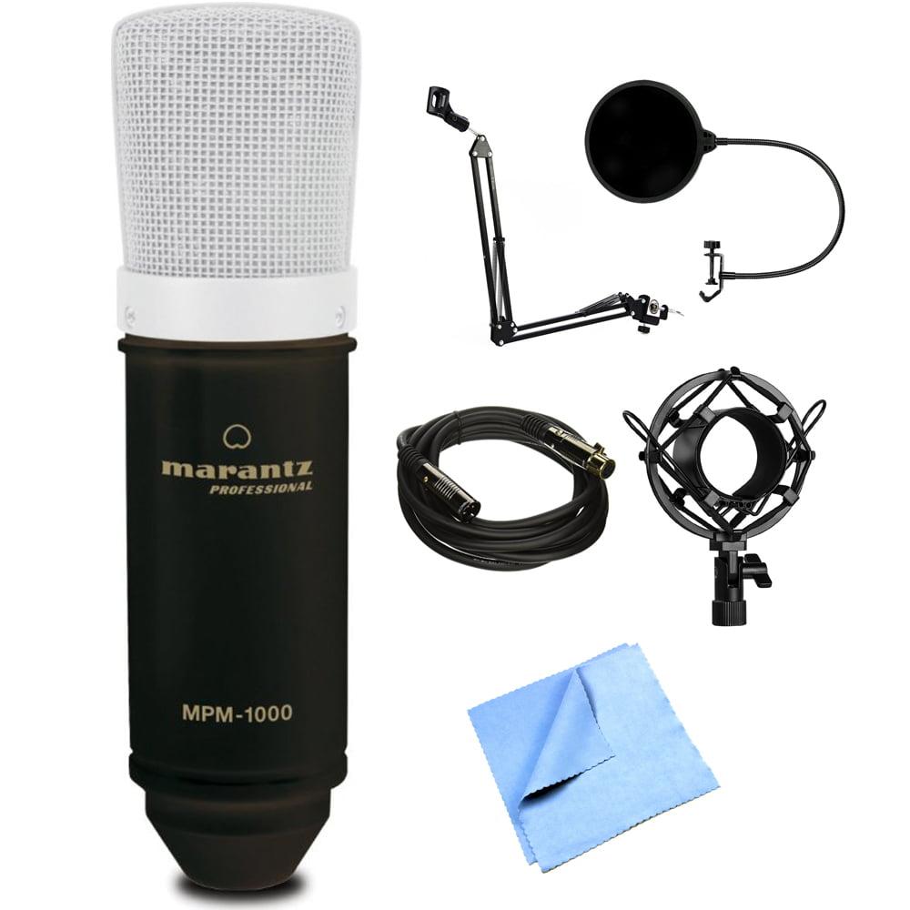 Marantz Studio Series 18mm Large Diaphragm Condenser Microphone (MPM-1000) with Microphone... by Marantz