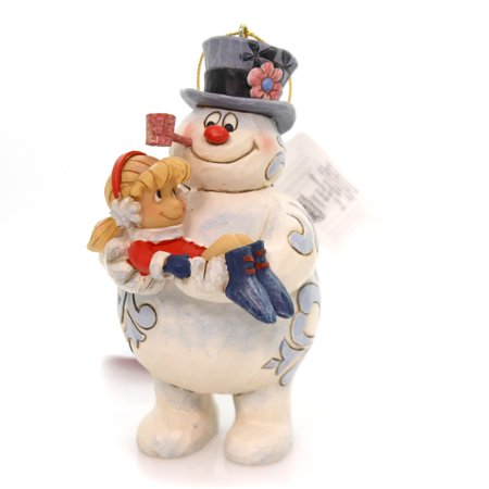 Jim Shore FROSTY THE SNOWMAN AND KAREN Polyresin Ornament Pipe 4058193