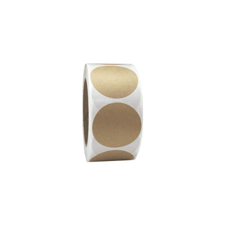 Brown Kraft Circle Stickers, 2 Inches Round, 500 Labels on a Roll for $<!---->