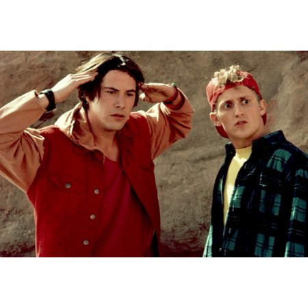 Bill And Teds Bogus Journey Keanu Reeves Alex Winter 1991 Thinking Photo Print