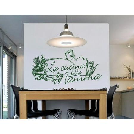 Cucina Della Mamma Wall Decal - kitchen Wall Sticker, Vinyl Wall Art ...