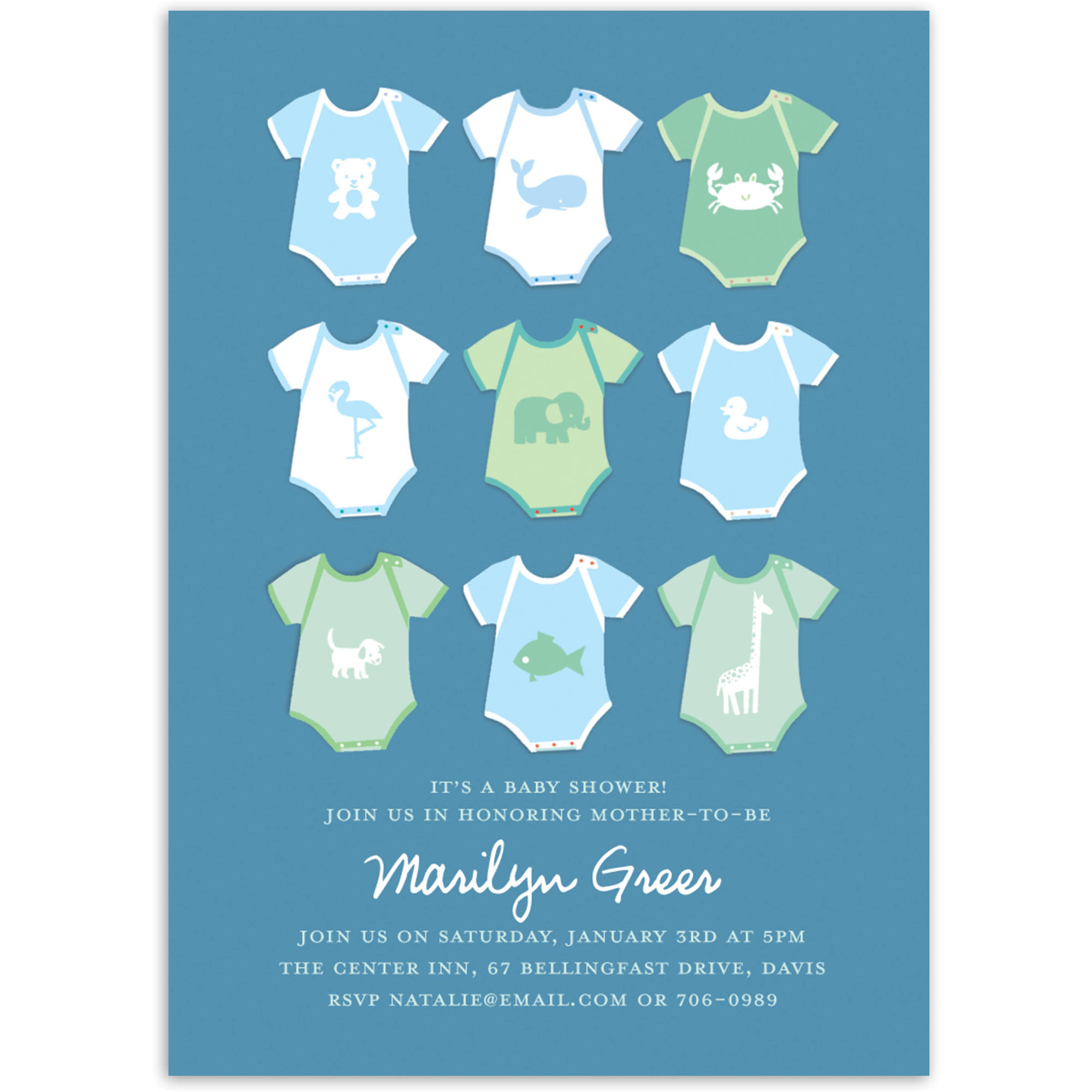 Onesies Baby Invitation