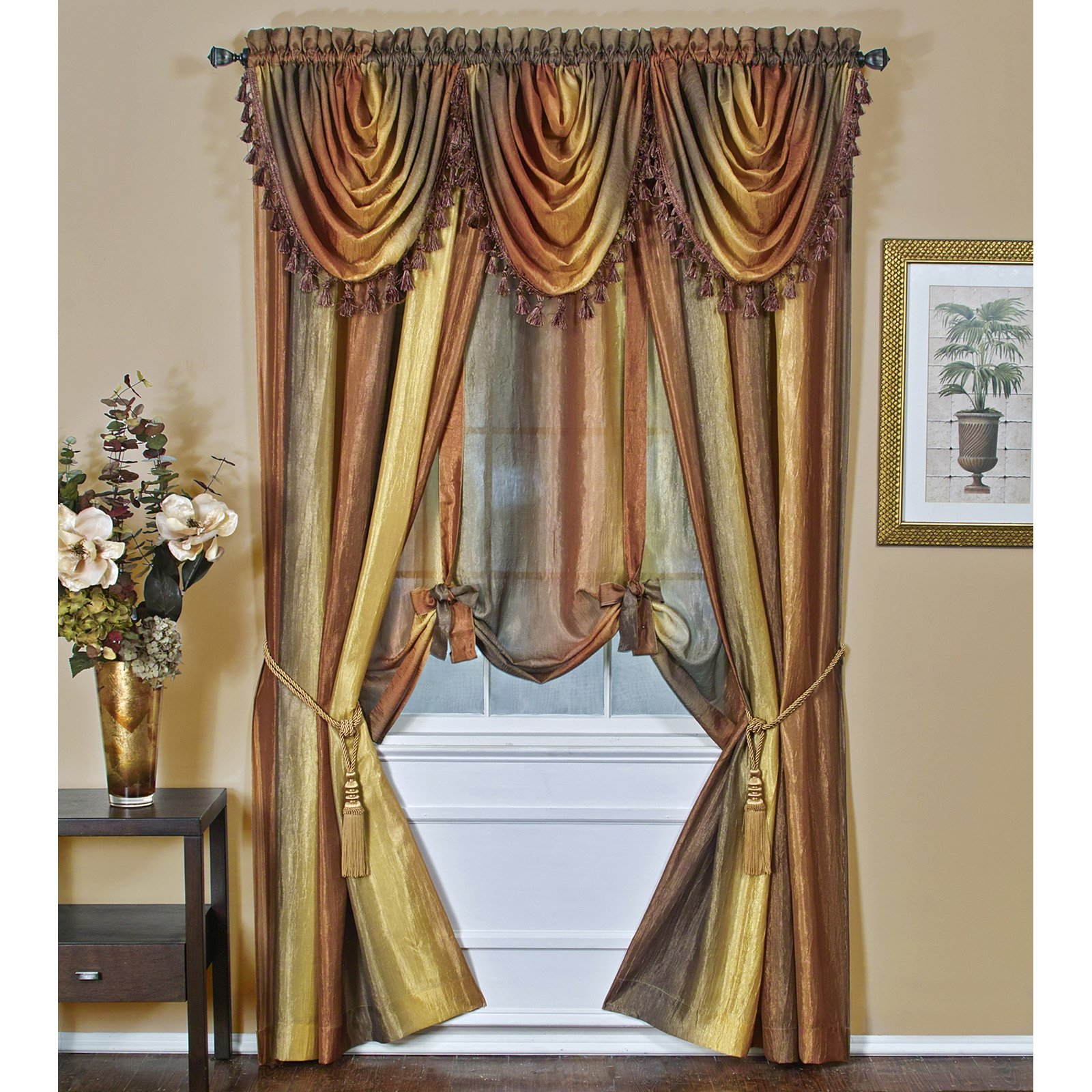 Ombre Waterfall Valance Walmart