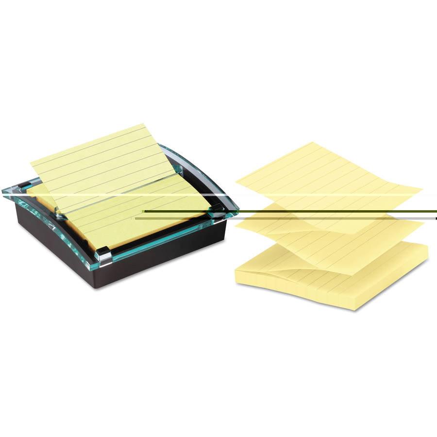 Post-it Pop-up Notes Super Sticky Super Sticky Pop-up Note Dispenser/Value Pack, 4 x 4 Self-Stick Notes,Black