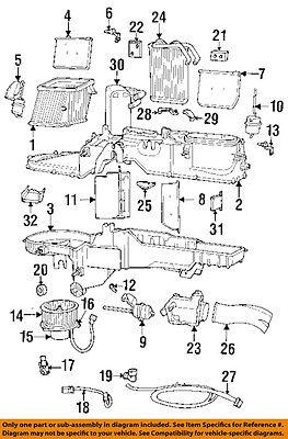 dodge chrysler oem 94 01 ram 1500 5 2l v8 evaporator heater lever 4720347 97 Dodge Ram Transmission