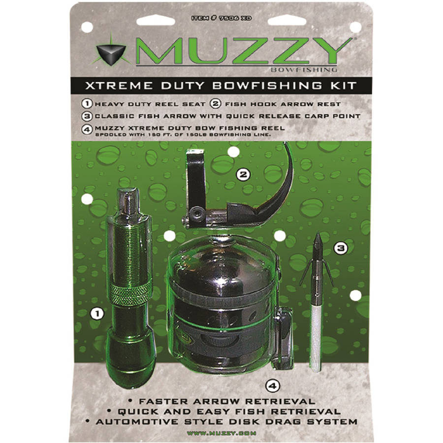 Muzzy Xtreme Duty Spincast Style Bowfishing Kit