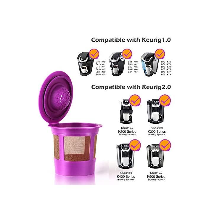 K-Select K-Elite GoodCups 4 Reusable K Cups for Keurig K-Duo K-Classic K-Caf