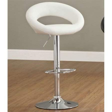 Furniture of America Costilo Height Adjustable Bar Stool in White ()