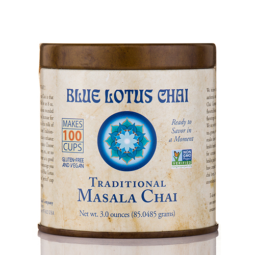 Traditional Masala Chai Tin - 3 oz (85.0485 Grams) by Blue Lotus Chai