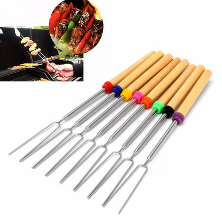 Hot Dog Roasting Forks (Marshmallow Roasting Sticks Telescoping 12.2
