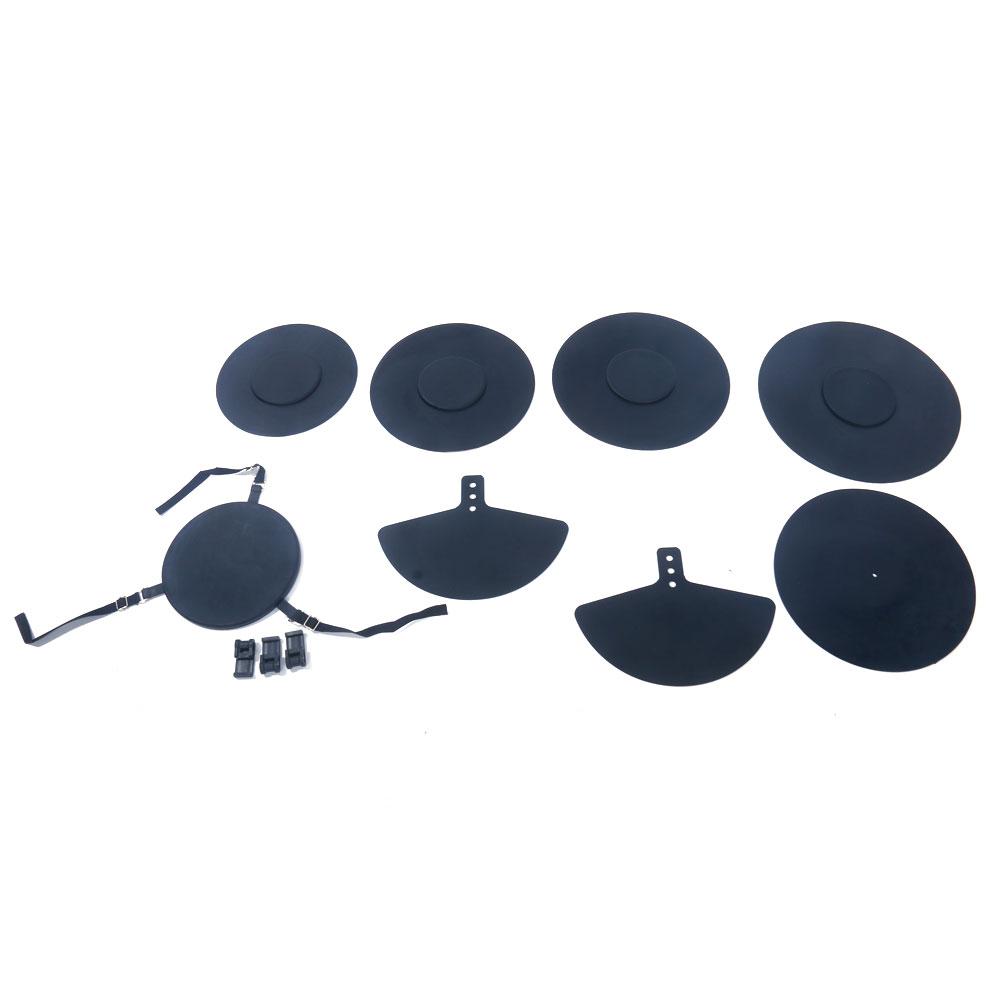 """Ktaxon Professional 12"""" 13"""" 14"""" 16"""" Drum Pad Black"""