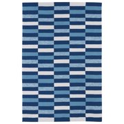 Kaleen Rugs Indoor/ Outdoor Luau Blue Stripes Rug (7'6 x 9')
