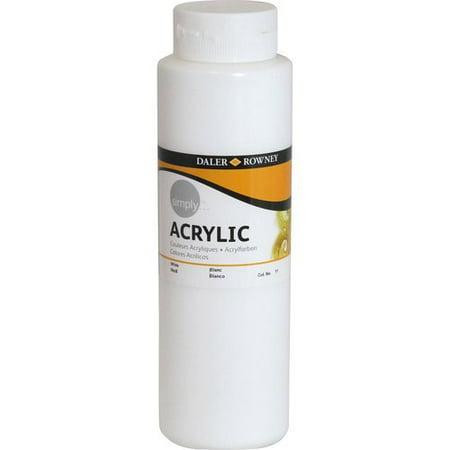 simply acrylic 750ml paint white