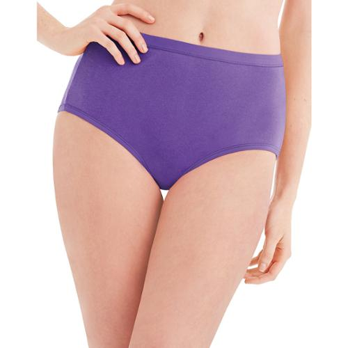 Hanes Womens 6 Pack Core Cotton Brief Panty-Assorted 10 Asst/Solid