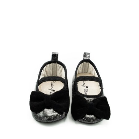 Abg Rising Star - Black Glitter Baby Shoes