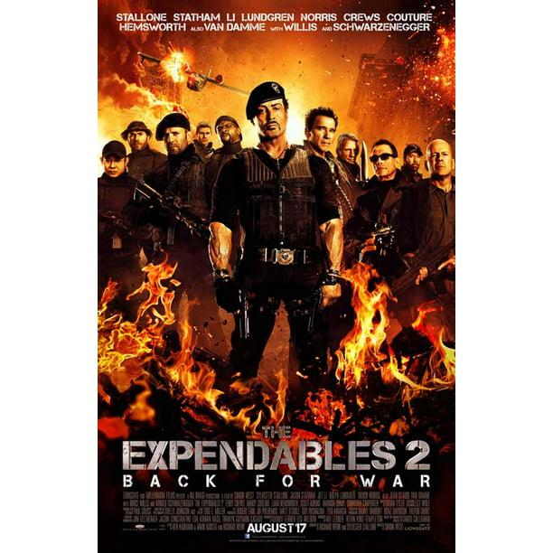 The Expendables 2 2012 27x40 Movie Poster Walmart Com Walmart Com