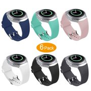 6 Park Gear S2 Watch Band, Amerteer Sports Replacement Silicone Watch Band Strap For Samsung Gear S2 SM-R720/SM-R730 Smartwatch