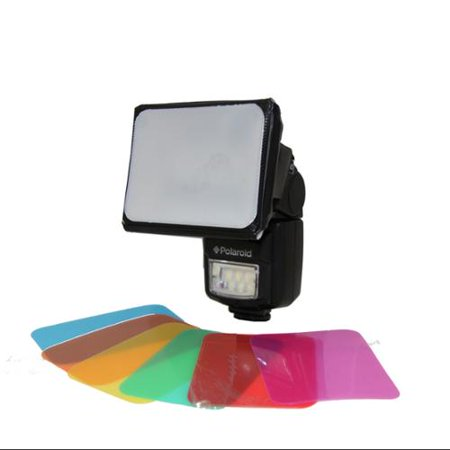 Eros Gel (Polaroid Universal Gel Soft Box Diffuser (Includes Blue, Red, Green, Amber, Yellow & Pink Gels) For Canon EOS, Nikon, Olympus, Pentax, Sony, Sigma, & Other External Flash)