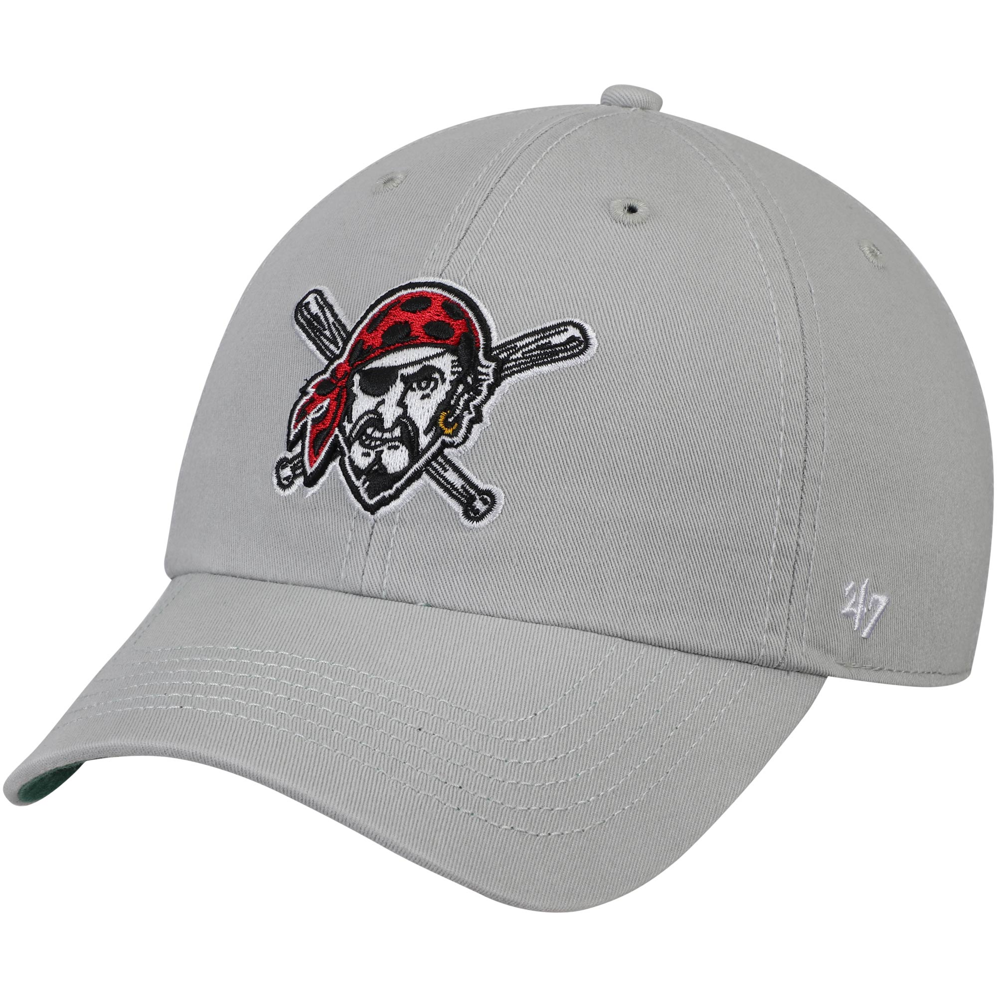 Pittsburgh Pirates '47 Primary Logo Franchise Fitted Hat - Gray