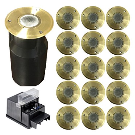 Ignite 12v Led Br In Ground Landscape Lighting 15 3 Watt Fixtures 60 Includes Transformer