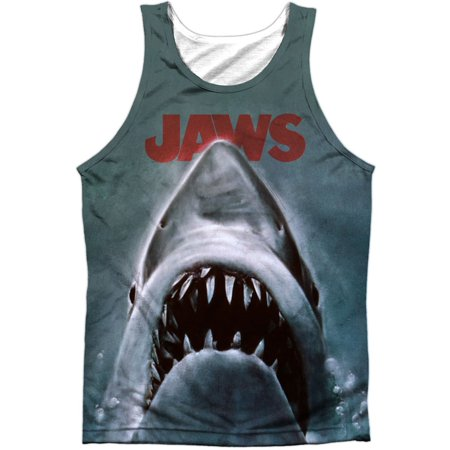 - Jaws Men's  Poster Mens Tank White