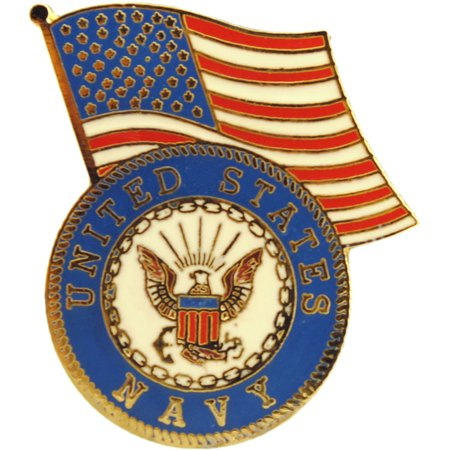 United States Navy Logo And US Flag