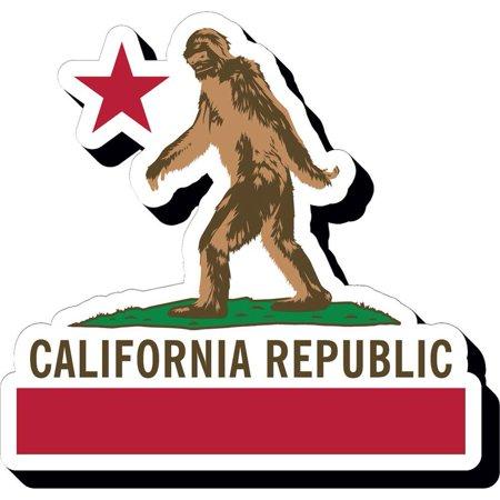 Bigfoot Flag Magnet, Satire by NMR Calendars