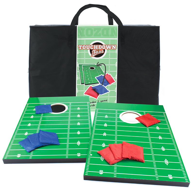 Crown Sporting Goods Touchdown Toss Football Tailgate Theme Cornhole Set & Case by Crown Sporting Goods