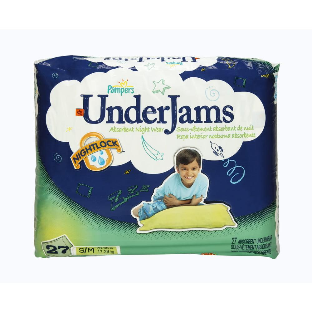 Pampers UnderJams Nightlock Size S/M Absorbent Underwear - 27 CT