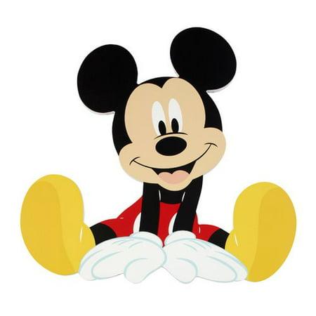 Disney Mickey Mouse Shaped Wall Art - Walmart.com