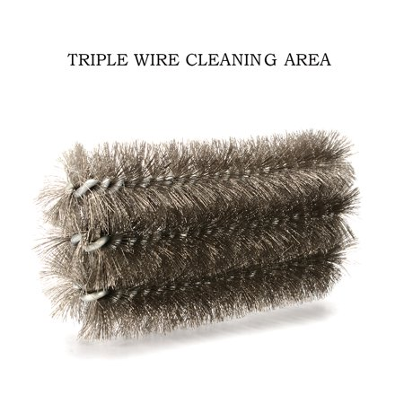 Image of BBQ Grill Brush, Rust Rwmoval Corrosion and Paint Wire Brush, Cast Iron Cleaner for Heavy Duty